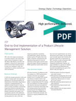 Accenture ITP End to End Implementation of a Product Lifecycle Management Solution
