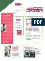 NEWSLETTER 3 Projet Action Sociale