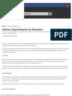 Análise e Especificações de Requisitos
