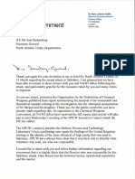 Letter to the Nato secretary general