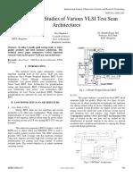 Popular Case Studies of Various VLSI Test Scan Architectures
