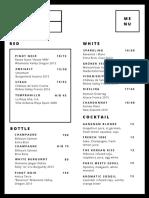 Soogil drink menu
