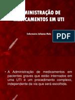 Medicações Em UTI