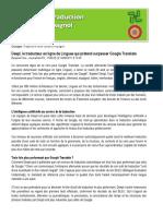 Document pour pratiquer la traduction francais-espagnol