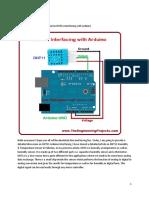 DHT11 Arduino Interfacing