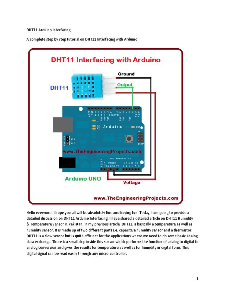 DHT11 Arduino Interfacing | Arduino | Microcontroller