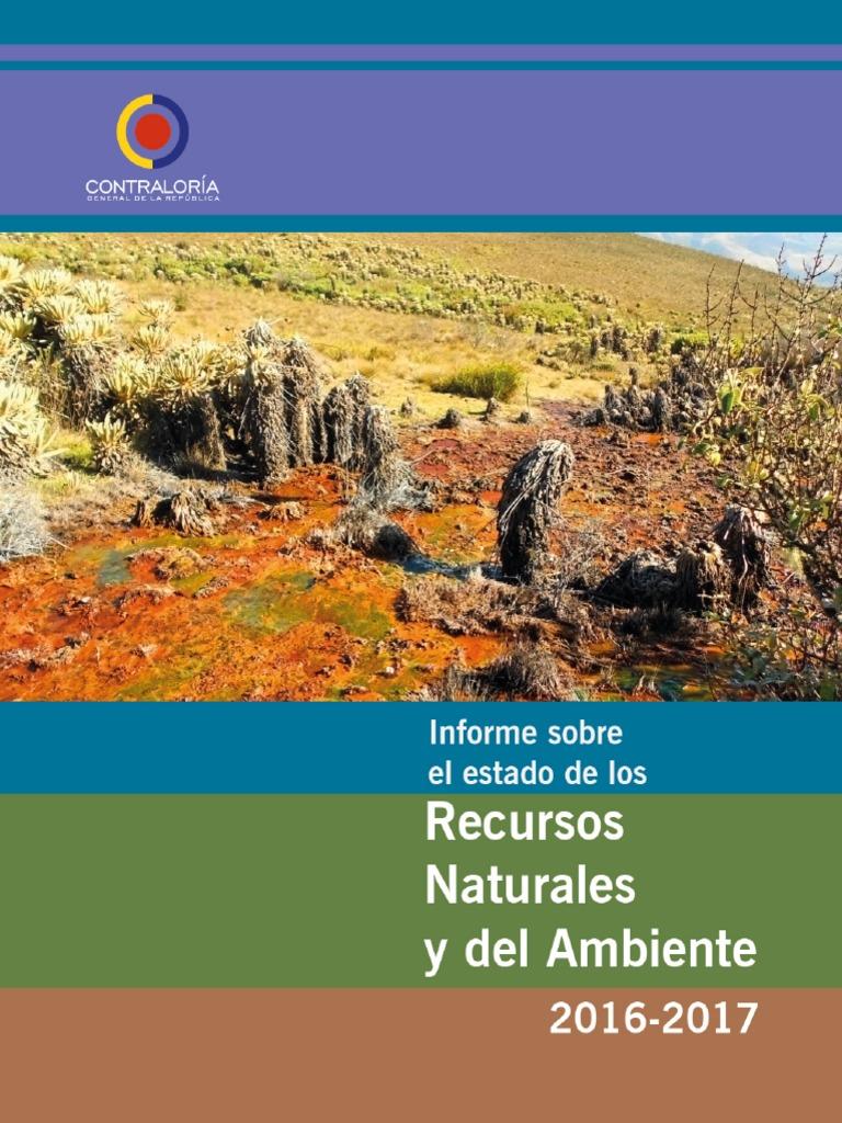 4fdff0b034 Informe Sobre El Estado de Los Recursos Naturales y Del Ambiente ...