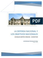 La Defensa Nacional y Objetivos Nacionales