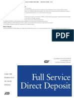 ADP Direct Deposit Authorization Form