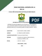Informe de Gestion Ambiental Del Proyecto - Mejoramiento