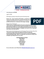 Whit Hughes Campaign Press Release - Campaign Finance Update