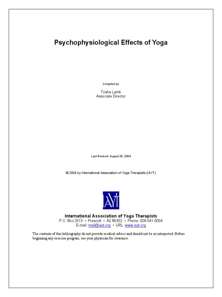 Psycho Physiological Effects of Yoga   Aerobic Exercise   Yoga