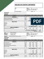 Costos Unitarios Para Instalaciones Sanitarias