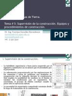 Conferencia # 5 Supervisión de La Construcción. Equipos y Procedimientos de Construcción.