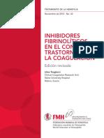 INHIBIDORES FIBRINOLÍTICOS EN EL CONTROL DE TRASTORNOS DE LA COAGULACIÓN
