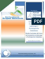 Guía Básica y Diseño Temático y Metodológico Curso de Formación en Liderazgo y Participación Ciudadana