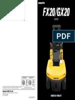 Komatsu Forklift FX GX20 Series