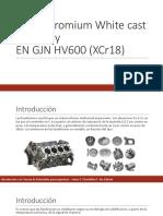 High-Chromium White cast Iron alloyEN GJN HV600 (XCr18)