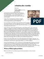 Philosophenschulen Der Antike – Wikipedia