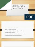 La Psicología Científica