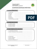 Ficha de datos de centro de practicas