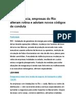 Com Violência, Empresas Do Rio Alteram Rotina e Adotam Novos Códigos de Conduta