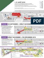 Les phases de travaux sur le boulevard Montaigne