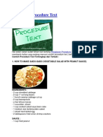 15 Contoh Procedure Text