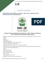 SSC Junior Engineers (JE)