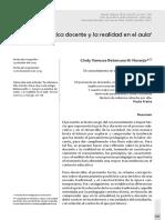 Betancourth Naranjo (2013) La Práctica Docente y La Realidad en El Aula