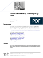 Campus Network for High Availavility Design Guide