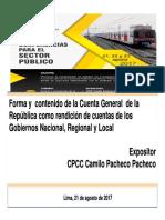 Forma y Contenido de La Cta Gral de La Rep Como Rendicion de Cuentas-camilo Pacheco