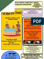 Mobile Regional Senior Community Center October Schedule