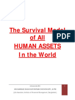 The Survival Model of All HUMAN ASSETS in the World
