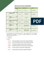 Formulas de Calculo Financiero