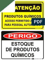 Placas Produtos Químicos