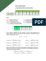 Datos Experimentales y Resultados Calorimetria