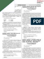 RESOLUCION MINISTERIAL N° 0161-2018-MINAGRI