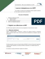 Guia de Usuario - Afiliar Nuevos Trabajadores en El SPP