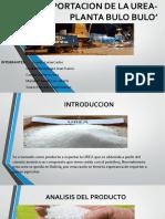 Exportacion de La Urea-planta Bulo Bulo'