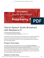 Text-To-Speech Audio Broadcast With Raspberry Pi _ PubNub