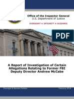 DOJ OIG Report on Andrew McCabe - April 13th Release