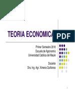 Teoria Economica 2018 PrimeraParte