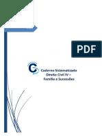 #Caderno Sistematizado Civil IV - Família e Sucessões (2018)