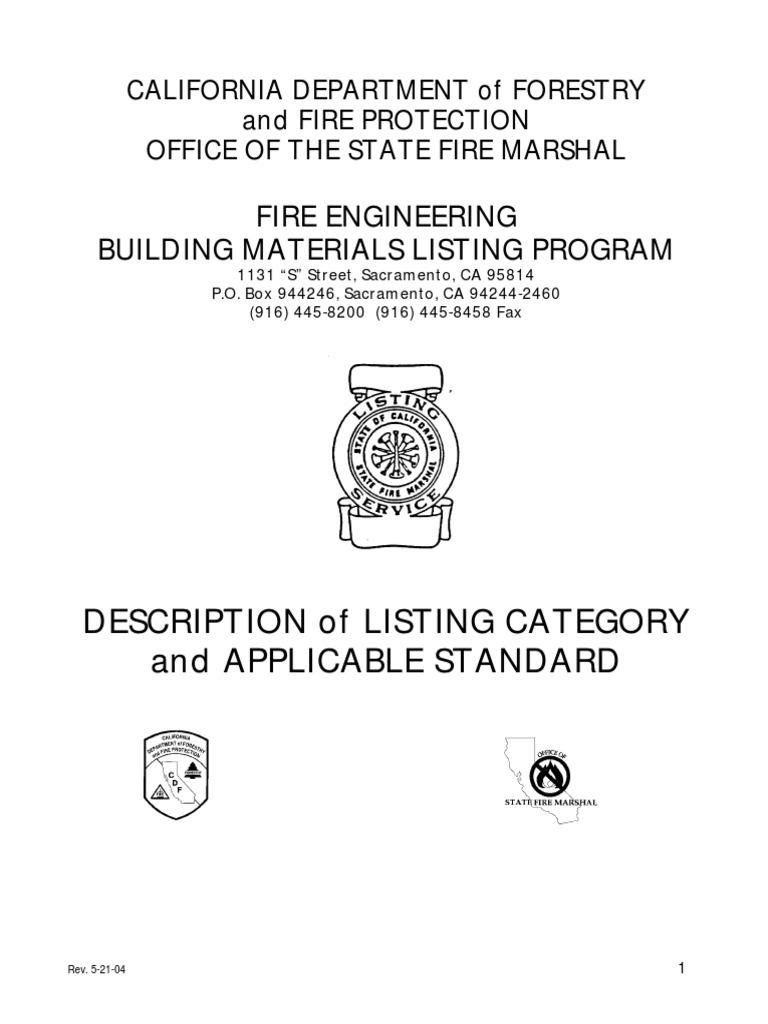 Ul Listing Categorybm