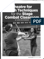 macpherson theatre for youth techniques for the stage combat classroom