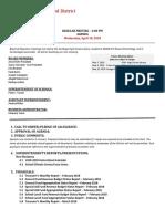 Carthage Central Board of Education Agenda April 18, 2018