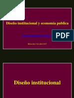 Diseño Institucional y Economia Publica