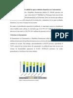 Tabla Comparativa de Calidad de Aguas Residuales Domesticas en Centroamérica