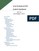 2017-2018 Minerva Schools at KGI Student Handbook